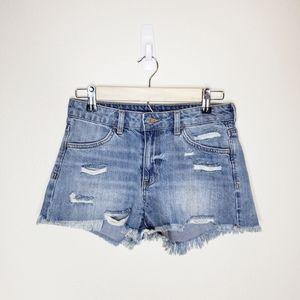 &Denim | H&M Frayed Normal Waist Shorts